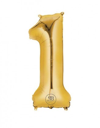 "40"" Foil Balloon Gold Number 1"