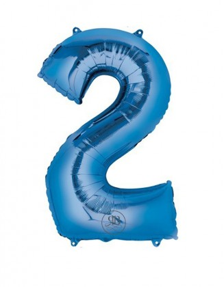 """40"""" Balloon Blue Number 2"""