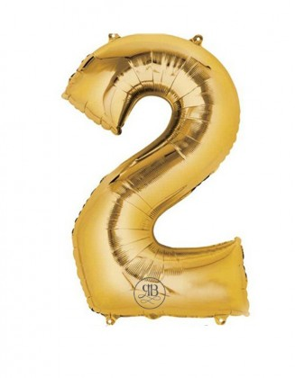 """40"""" Balloon Gold Number 2"""