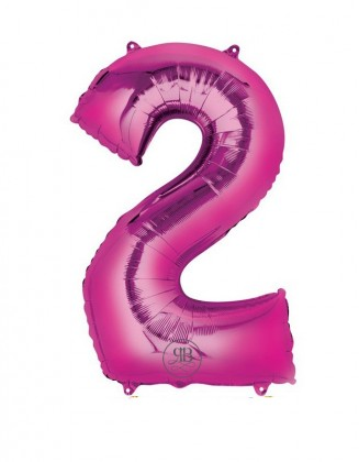 """40"""" Balloon Pink Number 2"""
