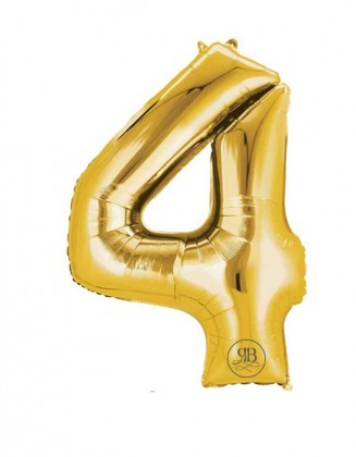 """40"""" Balloon Gold Number 4"""