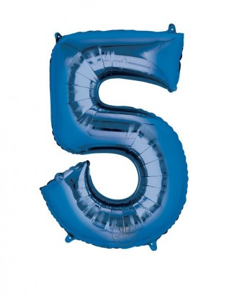 """40"""" Balloon Blue Number 5"""