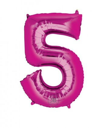"""40"""" Balloon Pink Number 5"""