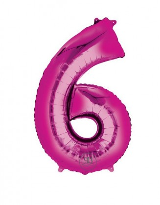 """40"""" Foil Balloon Pink Number 6"""
