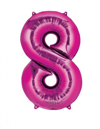 """40"""" Foil Balloon Pink Number 8"""