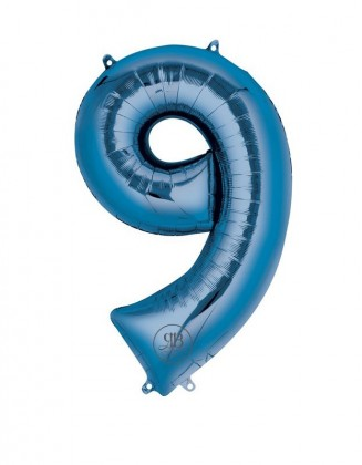 "40"" Foil Balloon Blue Number 9"