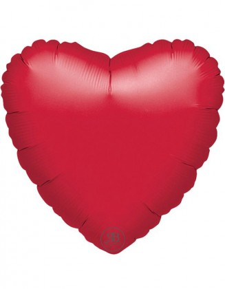 Red Heart Foil Balloon 18""