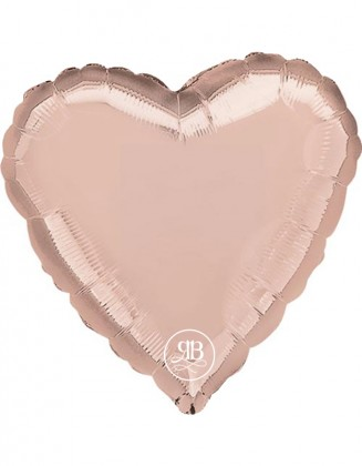 Rose Gold Heart  Foil Balloon 18""