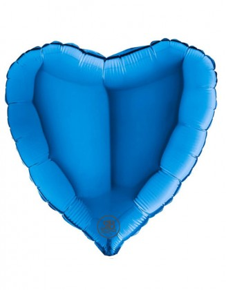 Blue Heart Foil Balloon 18""