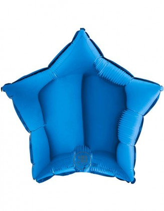 Blue Star Foil Balloon 18''