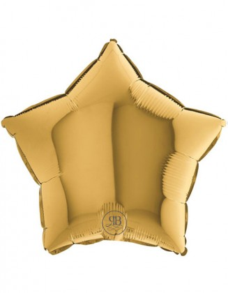 Gold Star Foil Balloon 18''