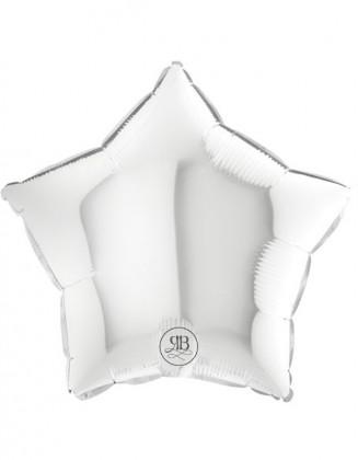 White Star Balloon Foil 18''