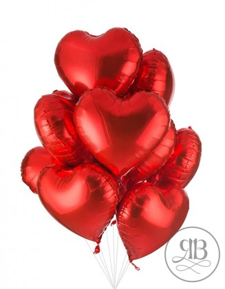 Valentine's red Hearts 18''