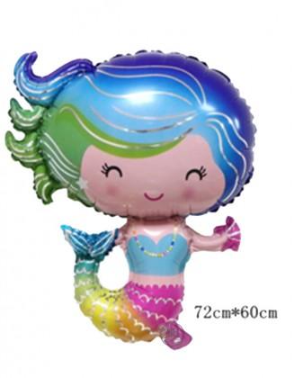 Mermaid foil balloon