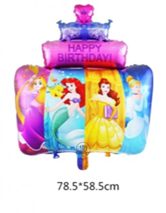 Happy Birthday Balloon All Princesses