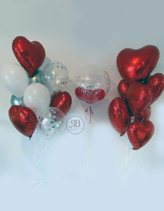 Luxury Valentine's balloons Bouquets and bespoke Balloon