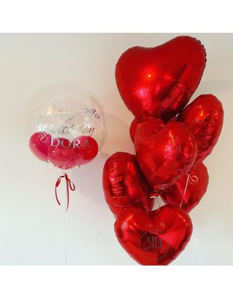 Valentine's Bespoke Balloon an Foil Heart