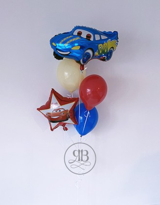 Car and balloons for boys