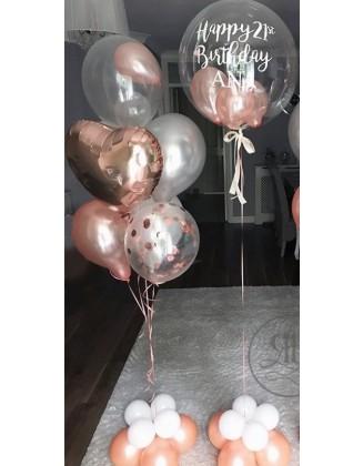 Bespoke balloon +Bouquet...