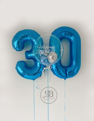 Numbers and Bespoke balloon