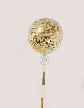Huge Gold Confetti Balloon 36''