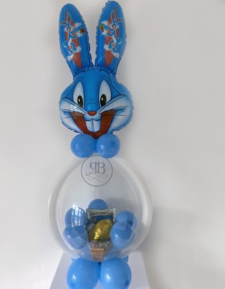 Easter Bunny Blue, Pink, Grey