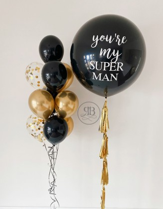 Bespoke Huge balloon with a bouquet