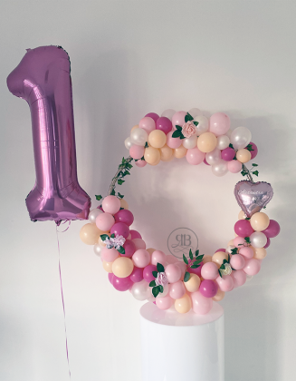 Balloon Hoop with number