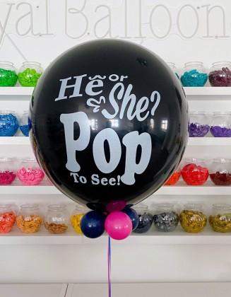 He or she giant balloon